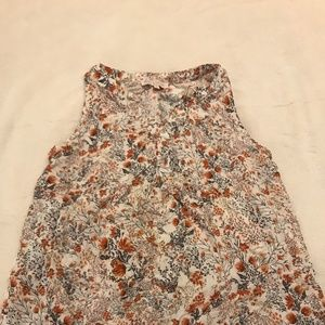 Rose & Thyme Sleeveless Floral Blouse - M